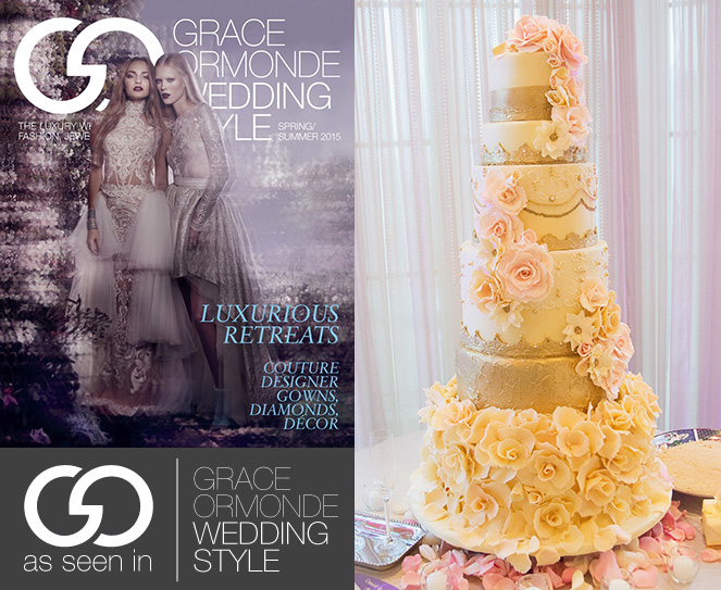Elegant Cheese Cakes - Featured in Grace Ormande Wedding Style Magazine